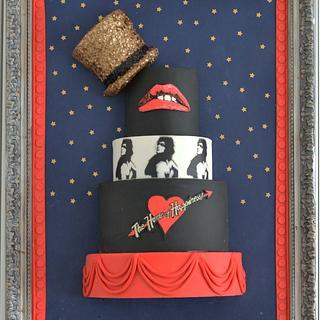 A tribute to Rocky Horror sugar show framed cake