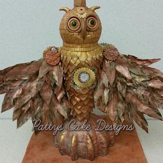 Steampunk Owl - Cake by Patty's Cake Designs
