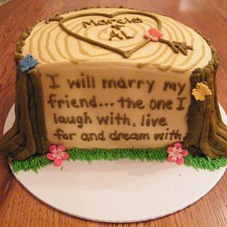 Today I Marry My Friend - Cake by Judy Remaly