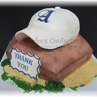 Baseball cap & base