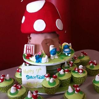 Smurf Cake - Cake by Priscilla's Cakes