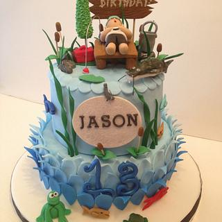 Fishing cake for Icing Smiles