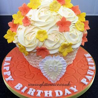 Oranges and lemons Giant Cupcake