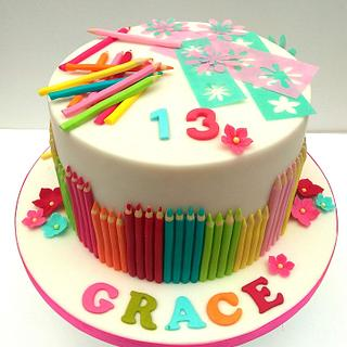 13th Birthday Cake Craft and Arts Lover - Cake by The Rosehip Bakery