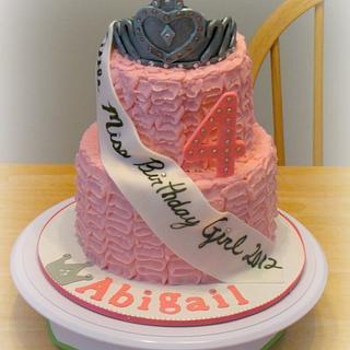 Princess Pageant Ruffle Cake  - Cake by Deborah