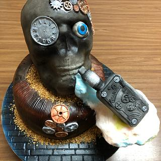 Skull with e-cig - Cake by Birgit