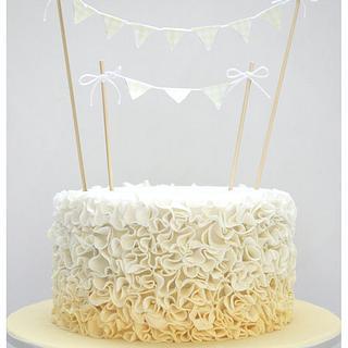 Babyshower Ruffle  - Cake by Patricia Tsang