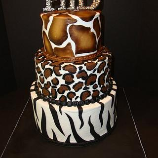 Animal-print Cake for PhD Graduation
