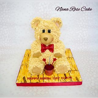 Tedy Bear buttercream cake