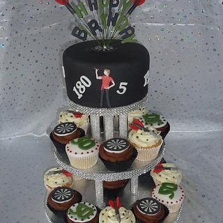 Men's Dart Theme Cupcakes/Cake