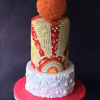 The Rising Sun - Cake by Debjani Mishra