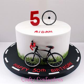 Cyclist birthday cake