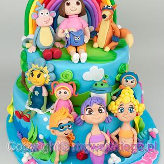 Superb Tort Dla Dzieci 2 Cakes Cakesdecor Funny Birthday Cards Online Alyptdamsfinfo