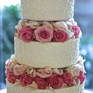 Wedding Cake with Floating Tiers