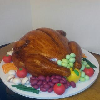 Roast Turkey Cake