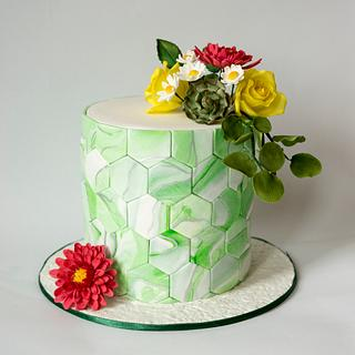 """ Hexagon cake"""