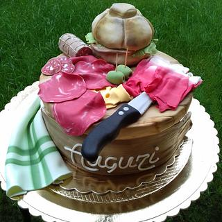 Torta tagliere con salumi- chopping board cake