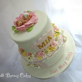 Mia's Christening Cake - Cake by Ruth Byrnes