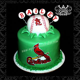 Cardinals Explosion Cake