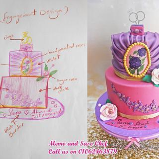 Unique Engagement cake
