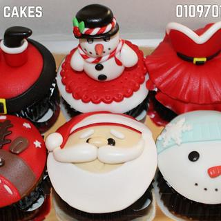 Christmas cupcakes - Cake by Yasmin Amr