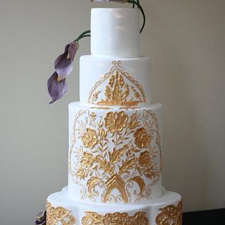Turkish Gold Wedding Cake