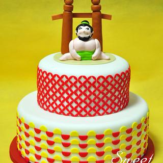 Sumo Wrestler Cake - Cake by Sweet Success