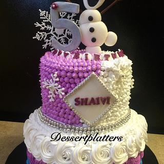 """""""Frozen themed cake"""" - Cake by Swati karthik"""