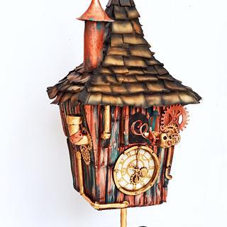 Steampunk cuckoo clock