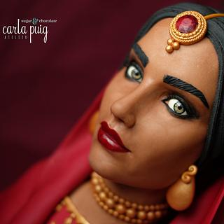 Indian woman chocolate bust