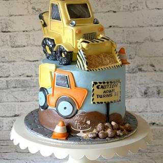 Caution Adam Turns Two - Cake by Slice of Heaven By Geethu