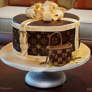 LV inspired cake - Cake by BunnyBakes