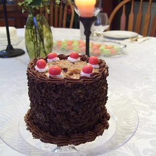 Miniature German Chocolate Tasting Cake - Cake by Linda Wolff
