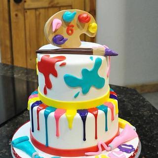 Artists cake
