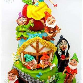 Snow White and the Seven Dwarfs - Cake by Galya's Art