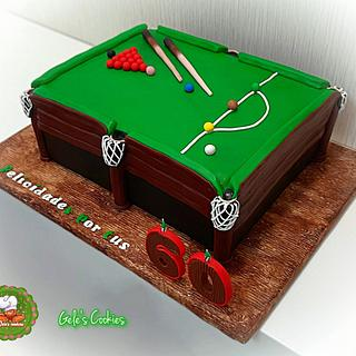 Snooker billiard cake