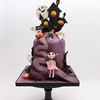 Haunted house on the hill - Cake by Starry Delights