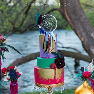 Vibrant Bohemian Cake - Cake by Enticing Icing