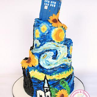 Starry Night Cake - Cake by Sweets and Treats by Christina
