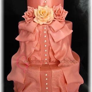 Mauve Wedding Cake