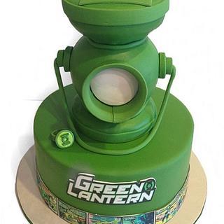 Magnificent Green Lantern Cake 4 Cakes Cakesdecor Funny Birthday Cards Online Amentibdeldamsfinfo