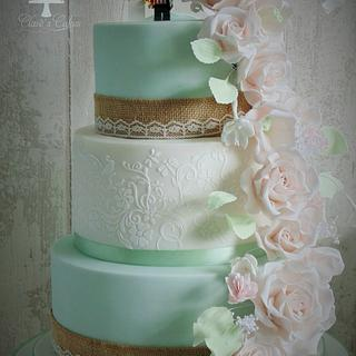 traditional wedding cake with LEGO quirks :)