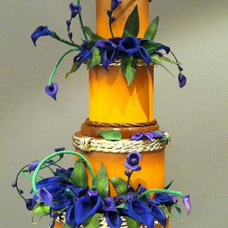 Dancing Calla Lilly's  - Cake by Bryson Perkins