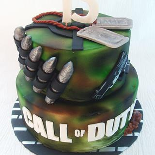 Call of Duty: Operation Sugar Cake - Cake by Josie Durney