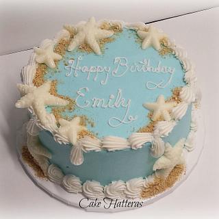 Admirable Starfish Birthday Cake 2 Cakes Cakesdecor Personalised Birthday Cards Akebfashionlily Jamesorg