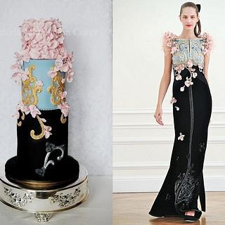 Fashion-Inspired Wedding Cake