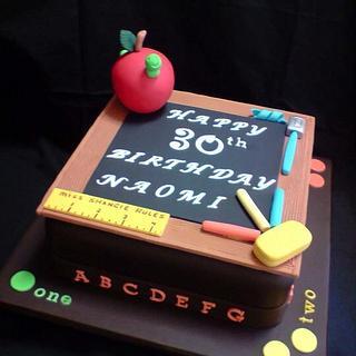 Cake for a teacher.