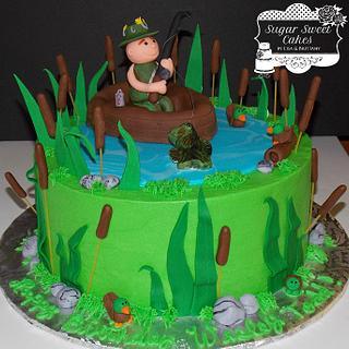 Gone Fishing - Cake by Sugar Sweet Cakes