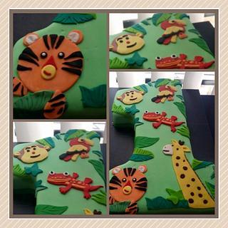 Jungle theme 1st Birthdat