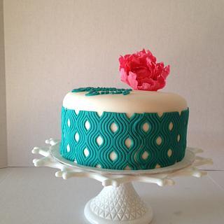 Ikat cake design
